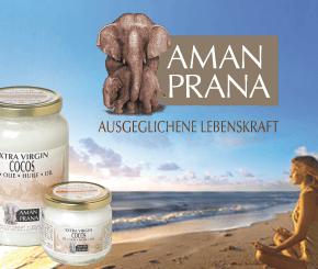 Amanprana, biologisches Kokosöl, Kokos Mehl, Rotes Palm Öl, Olivenöl, Walsnuss Öl,Weizenkeime