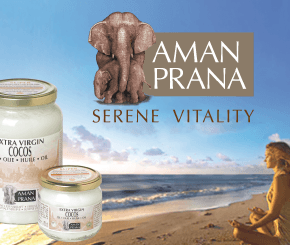Amanprana, organic coconut oil, red palm oil, olive oil, walnut oil, wheat germ, coconut diet fibre, body care products