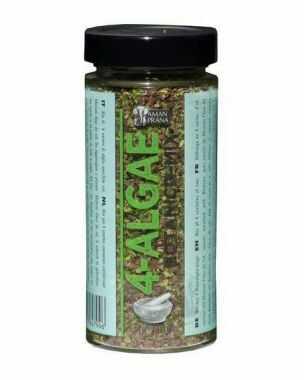 4-Algae, een 4 zeewieren mix (nori, dulse, zeesla en kombu) is een superbooster aan alle mineralen en sporenelementen.