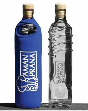 Amanprana Drinkfles Eco Respekt blauw - 500ml