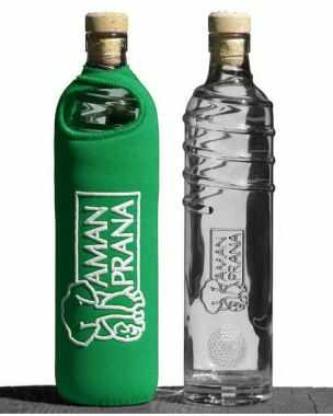 Amanprana Drinkfles Eco Respekt groen - 500ml