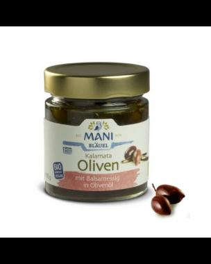MANI Kalamata-olijven met Balsamico in olijfolie 185g, bio