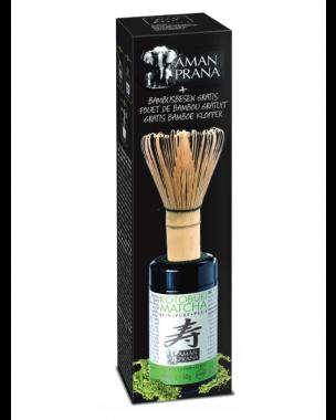 Amanprana Kotobuki Matcha bio + GRATIS bamboe klopper