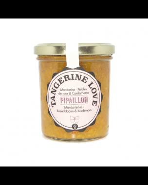 Pipaillon Tangerine, Rose petals & Cardamom Jam 212ml, organic
