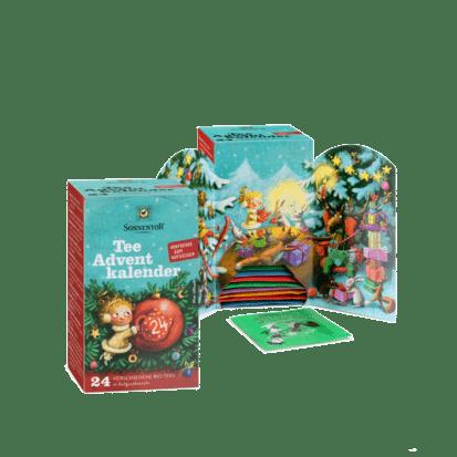 Tee Adventkalender 24 Aufgussbeutel 375g Bio