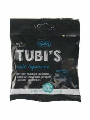 TerraSana Tubi's Salt Liquorice - vegan 100g, bio