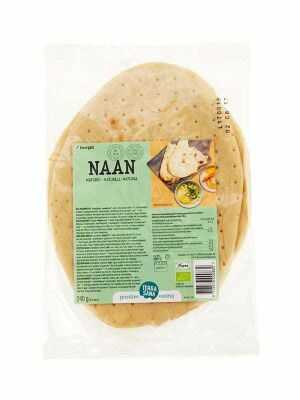 TerraSana Naan - Indiaas brood naturel 2 stuks, bio