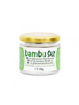 Bambu Salz Bamboo salt 1x roasted, fine powder 110g