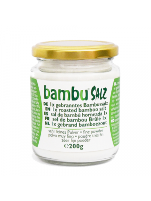 Bambu Salz Bamboo salt 1x roasted, fine powder 200g