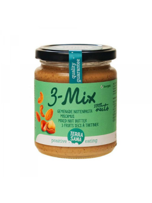 TerraSana 3-Mix Mixed Nut Butter without peanuts 250g, organic