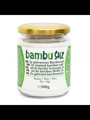 Bambu Salz Sel de bambou brûlé 2x, fin 300g
