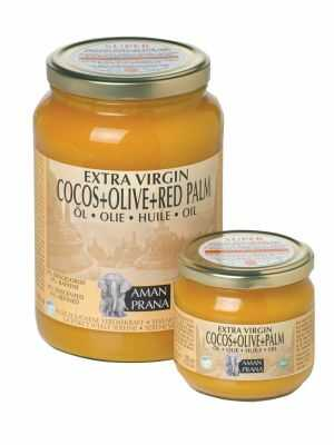 Amanprana Coconut Oil with Olive & Red Palm Oil - Extra Virgin and Organic.