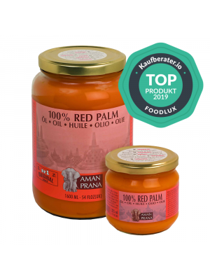 Amanprana Red Palm Oil: Extra Virgin and Organic
