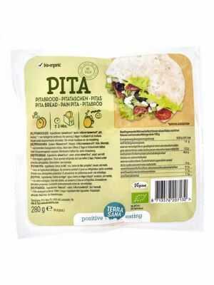 TerraSana pita bread original 4-pack 280g, organic
