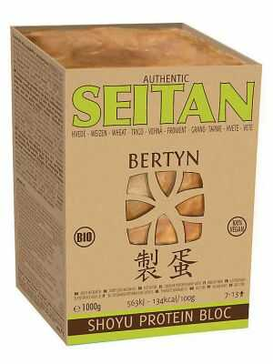 Bertyn Shoyu Seitan blé de Manitoba bloc 1000 g, bio