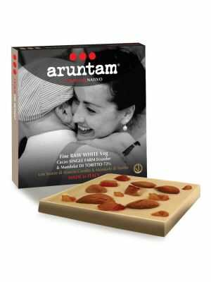 Aruntam Coraggio Nativo - Raw White Veg - raw, white vegan chocolate of Guayas, Ecuador