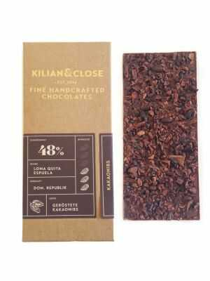 Vegan Chocolate - 48% Pure Dominican with Cacaonibs - Organic