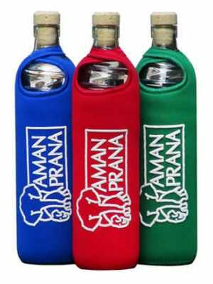 Amanprana Drinking Bottle Eco Respekt, glass, 500ml, tricolor