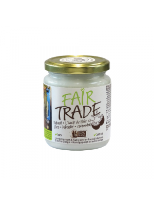 Fair Trade coconut oil 250ml, organic