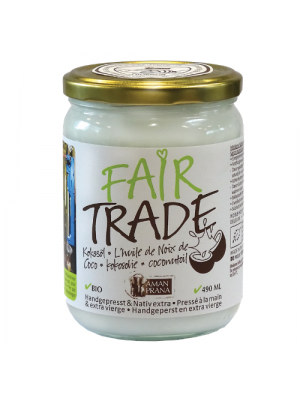 Amanprana Fair Trade coconut oil 490ml, organic