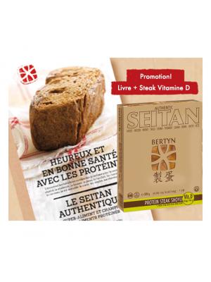 Seitan en super promotion ! Livre de recettes + shoyu steak protéiné à la vitamine D !, bio