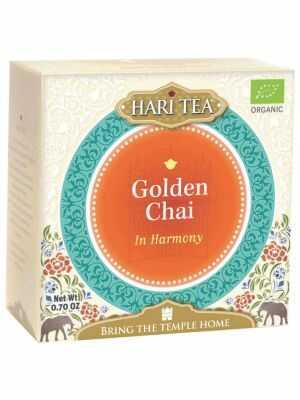 Golden Chai de Hari Tea, thé noir biologique avec les épices Chaï et du curcuma