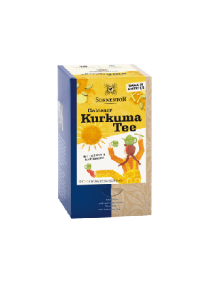 Gouden kurkuma thee, 18 theezakjes, 36g, bio