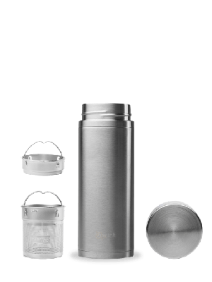 RVS infuserfles met 2 filters - 300 ml