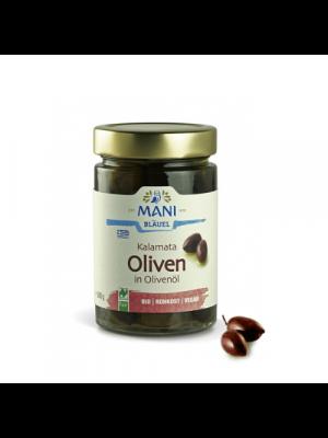 MANI Kalamata-olijven naturel - ontpit 175g, bio
