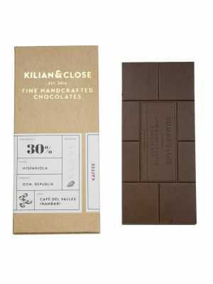 Vegan white chocolate without milk, egg or soy - with the flavour of Peruvian coffee - Kilian & Close