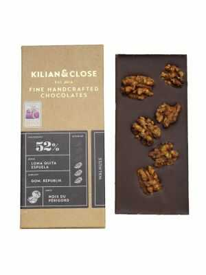Vegan milk chocolate without milk, without soy, with caramelised walnuts - Kilian & Close