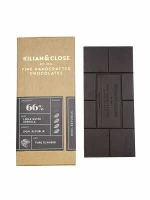 Vegan pure chocolate - 66 percent cacao - 66% Pure Dominican Republic - Kilian & Close