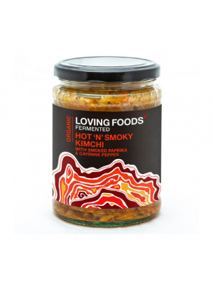 Loving Foods Kimchi Hot 'n' Smoky / Gerookte paprika 500g, bio