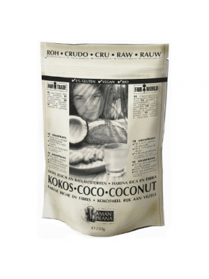 Coconut flour with 50% fiber organic, 250g