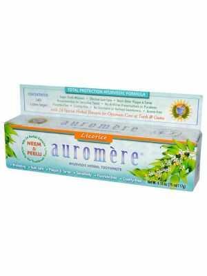 Auromère Licorice: dentifrice 100% naturel et ayurvedique