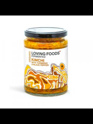 Loving Foods Kimchi Kurkuma & Zwarte Peper 500g, bio