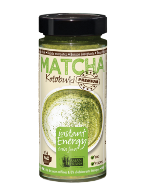 Matcha Energy Drink with coconut blossom sugar 230g, organic