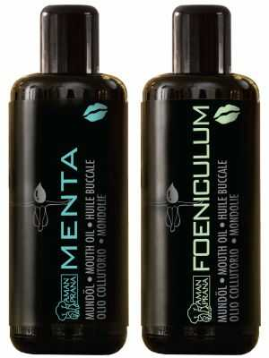 Organic Mouth Wash, Amanprana Mouth Oil Menta and Foeniculum