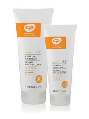 Green People Sun Lotion Scent Free, 100ml & 200ml