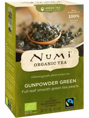 Le gunpowder Green de Numi est un thé vert biologique légèrement fermenté.