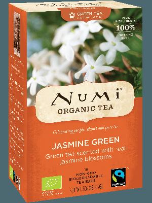Jasmine Green – biologische jasmijn thee op basis van groene thee en de geur van jasmijnbloesems