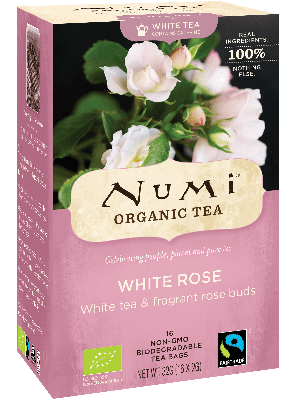 White Rose - Witte thee met bio rozenknoppen - Numi