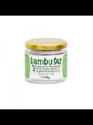Bambu Salz 2x gebranntes Bambussalz fein 150g