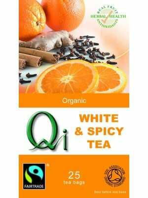 Biologische witte thee met kruiden van Qi