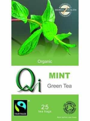Biologische Chinese groene thee met munt van Qi