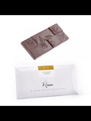 RRRAW - Tablet PUR-100, rauwe chocolade, reep 45g, bio