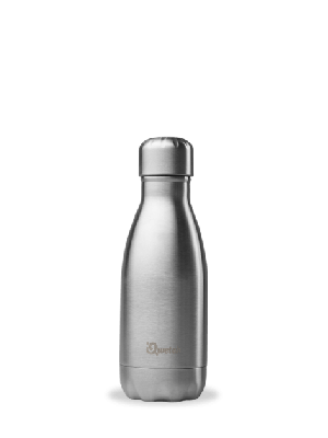 Stainless Steel  - Inox Drinking Bottle - 260 ml - Qwetch bottle for hot and cold drinks
