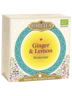Hari Tea Ginger & Lemon - Mindscape - kruidenthee met gember en citroen, geeft energie en verfrist