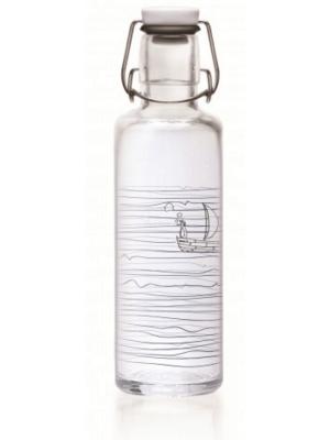 Devant de la Soulbottle «Heimat.Wasser» – la bouteille en verre résistante au lave-vaisselle