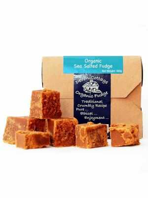 Sea Salted Fudge by Devon Cottage Organic Fudge - hand-made with organic ingredients from local farms